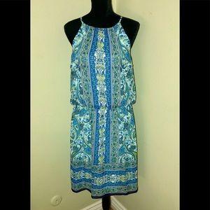 LONDON TIMES Turquoise Paisley Sundress-Size 14
